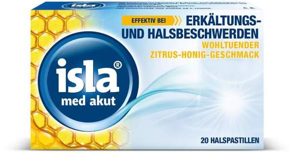 Isla med akut Zitrus Honig 20 Pastillen