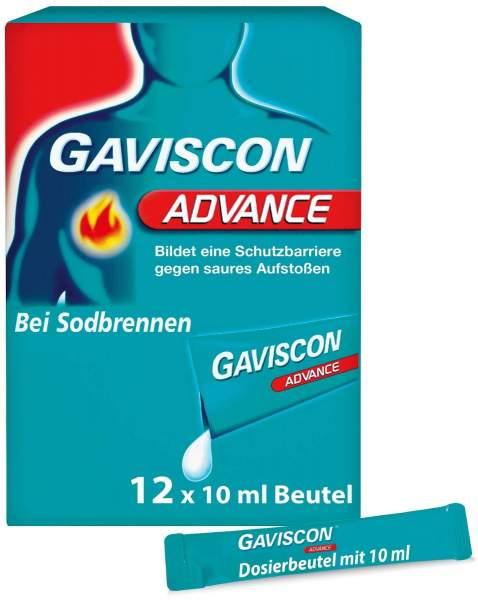 Gaviscon Advance Pfefferminz 12 x 10 ml Suspension