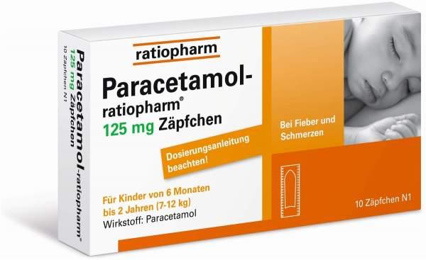 Paracetamol ratiopharm 125 mg 10 Zäpfchen