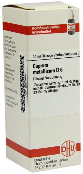 Cuprum Metallicum D 6 20 ml Dilution