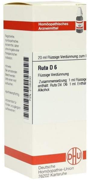 Ruta D6 Dilution 20 ml Dilution