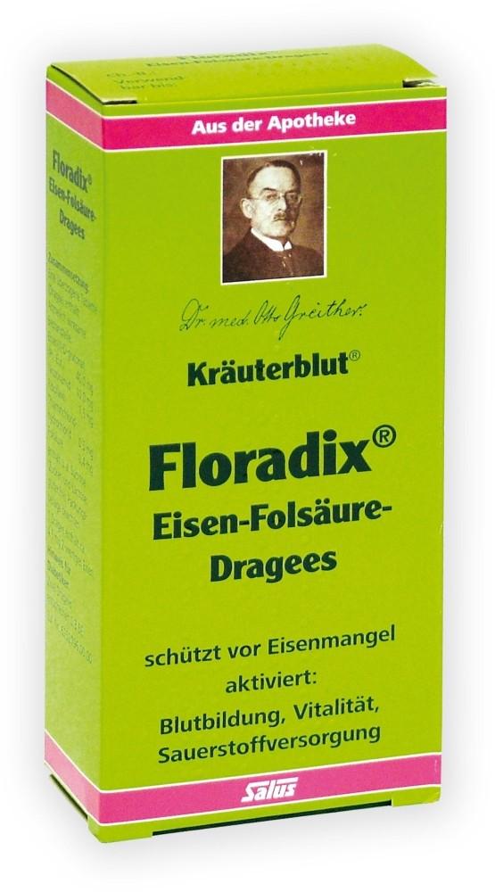 Salus Kräuterblut Floradix Eisen-Folsäure-Dragees 84 Dragees - 84 Überzogene Tabletten