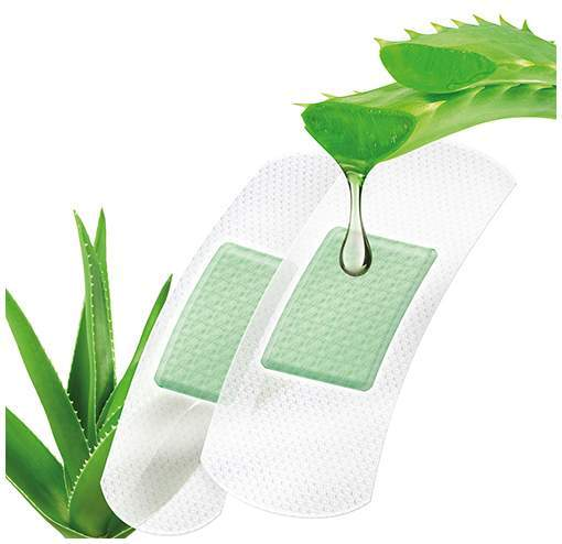 Pflaster-Strips Aloe Vera 10 Stück, 2 Größen