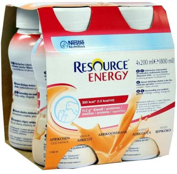 Resource Energy Aprikose 4 x 200 ml