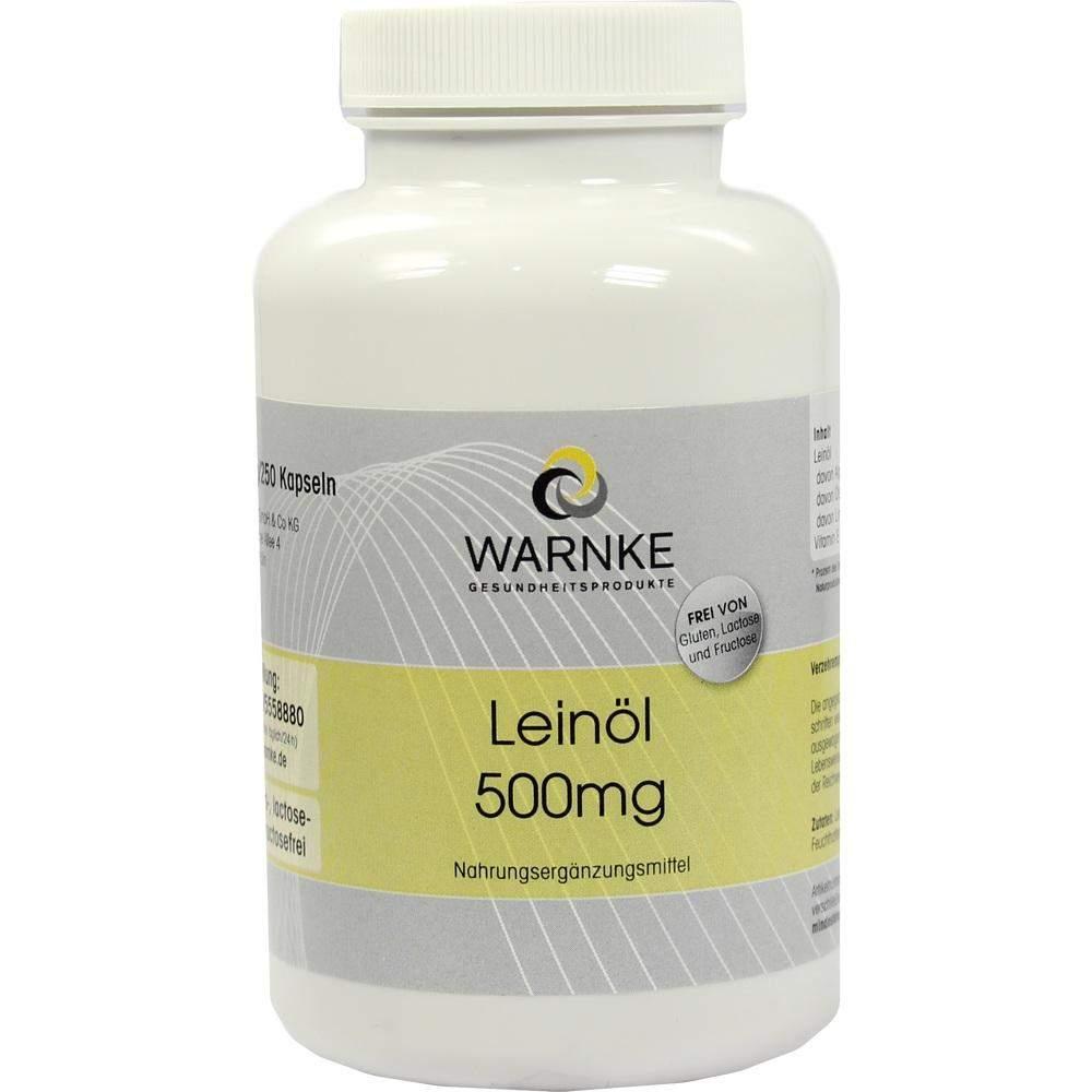 Leinöl 500 mg 250 Kapseln
