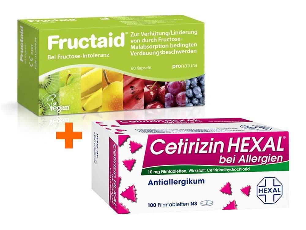 Sparset Fructaid Kapseln 60 Stück + Cetirizin H...