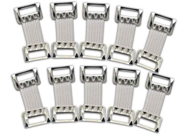 Verbandklammern Set weiß 10 Stück