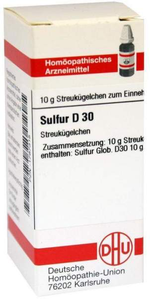 Sulfur D30 10 G Globuli