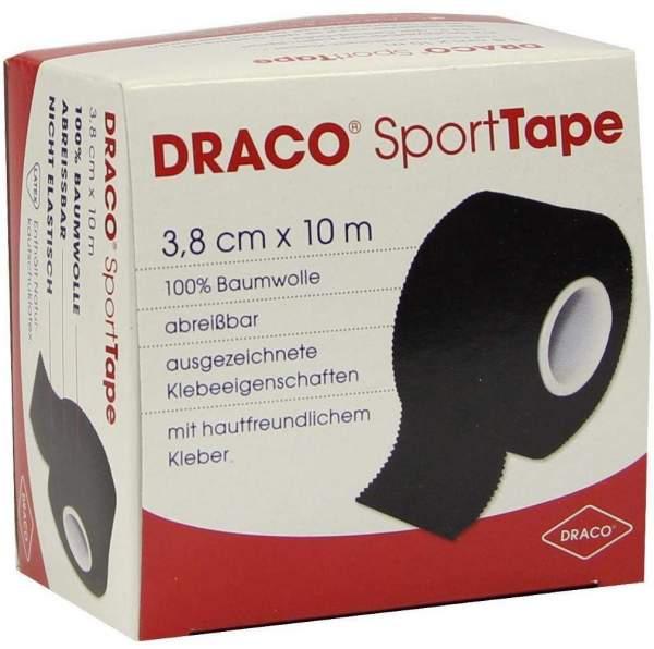 Draco Sporttape Tapeverband 10 M X 3,8 cm Schwarz 1 Verband