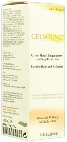 Celyoung Extrem Hand Fingerspitzen und Nagelhaut 100 ml Creme