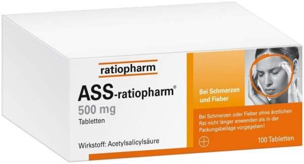 ASS Ratiopharm 500 mg 100 Tabletten