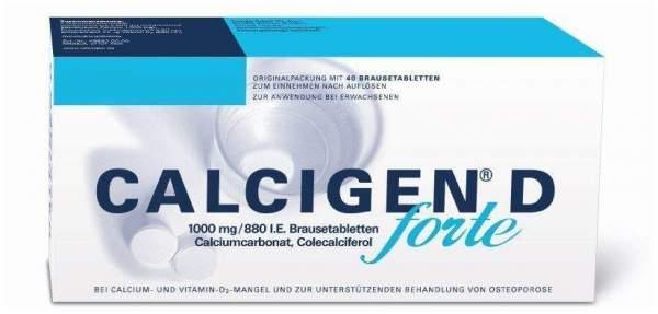 Calcigen D Forte 1000 mg 880 I.E. 40 Brausetabletten