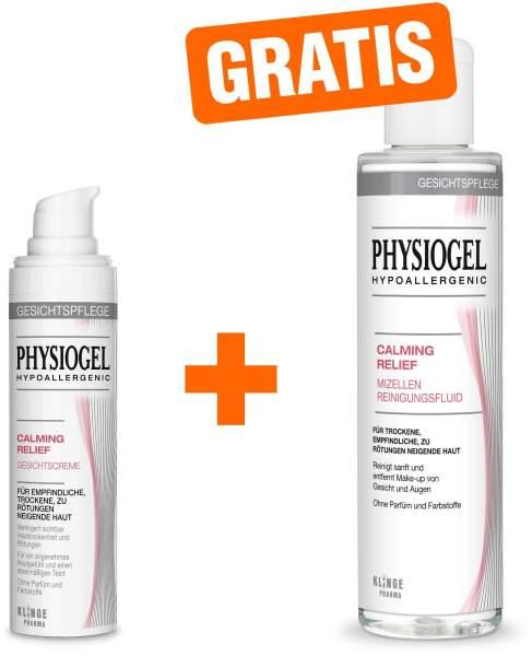 Physiogel Calming Relief 40 ml Gesichtscreme + gratis Calming Relief Mizellen Reinigungsfluid 200 ml