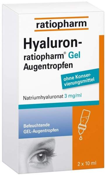 Hyaluron-ratiopharm Gel 2 x 10 ml Augentropfen