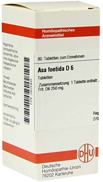 Asa Foetida D6 Tabletten 80 Tabletten
