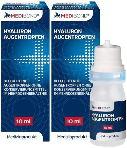 Hyaluron Medibond Augentropfen 2 x 10 ml