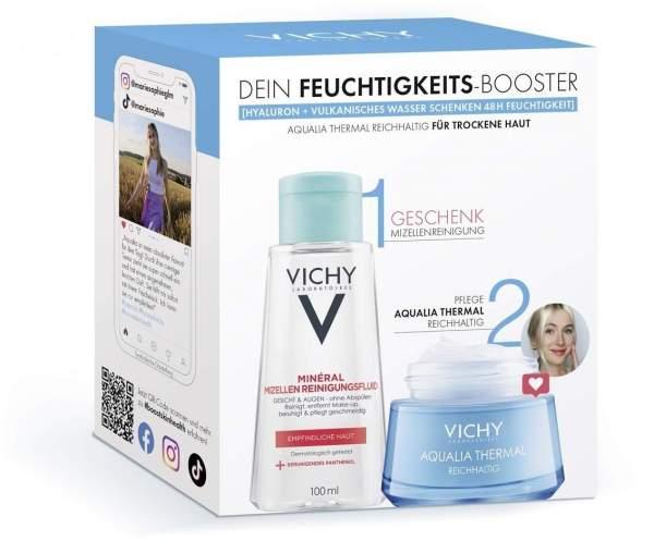 Vichy Aqualia Thermal reichhaltig Routineset + gratis Purete Thermale Mineral Mizellen Reinigungsfluid 100 ml