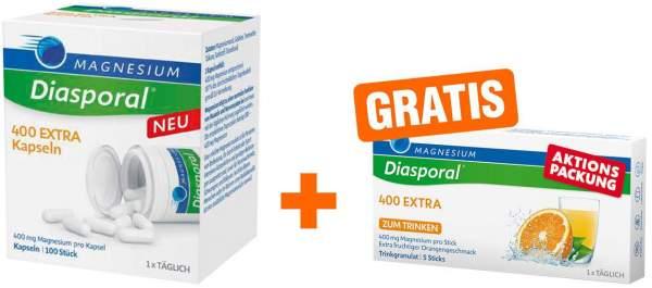Magnesium Diasporal 400 Extra Kapseln + 5 Sticks Granulat gratis