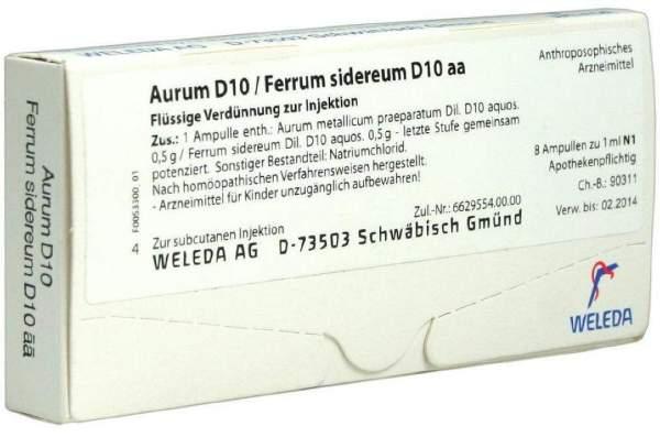 Weleda Aurum D10 Ferrum Sidereum D10 Aa 8 X 1 ml