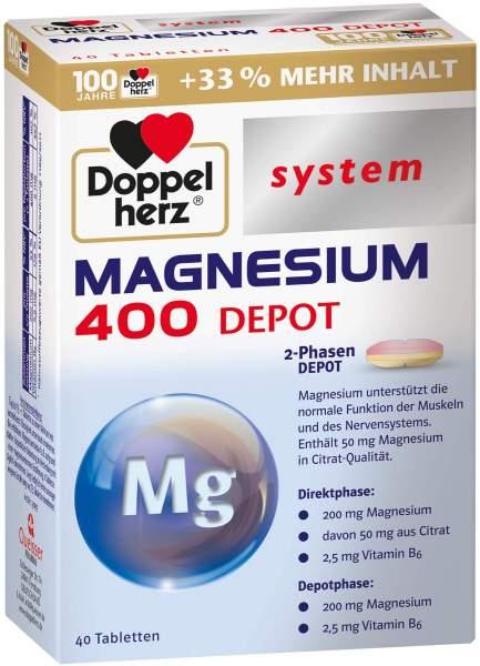 Doppelherz Magnesium 400 Depot System 40 Tabletten