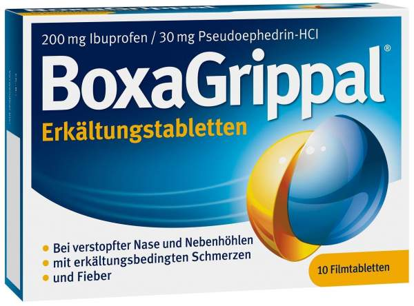 Boxagrippal Erkältungstabletten 200 mg - 30 mg 10 Filmtabletten