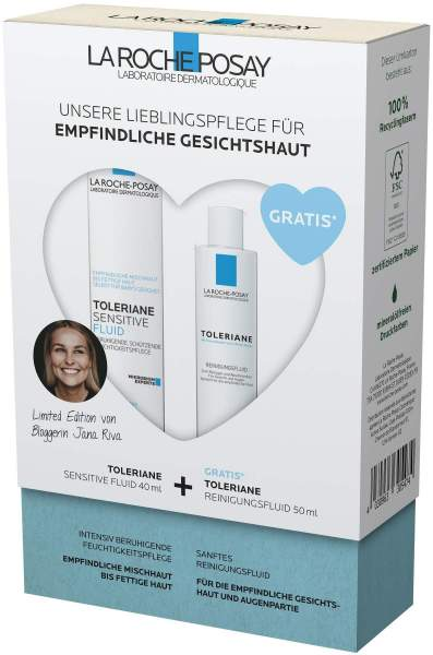 La Roche Posay Toleriane Sensitive Fluid Routineset + gratis Toleriane Reinigungsfluid 50 ml