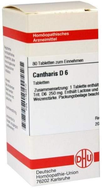 Cantharis D 6 80 Tabletten