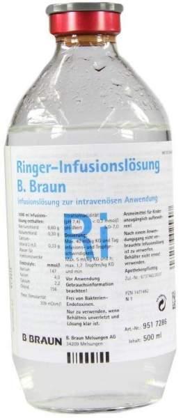 Ringer Lösung B.Braun Glas Infusionslösung 500 ml Infusionslösung