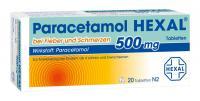 Paracetamol Hexal 500 mg 20 Tabletten