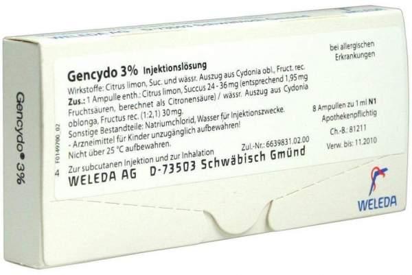 Weleda Gencydo 3% 8 Injektionslösung