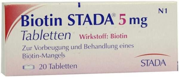 Biotin Stada 5 mg 20 Tabletten