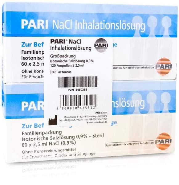 Pari Nacl Inhalationslösung Ampullen 120 X 2,5 ml