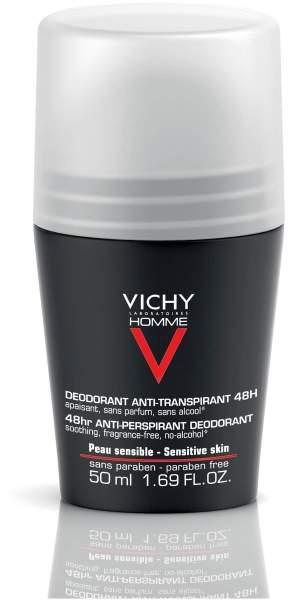 Vichy Homme Deodorant Anti - Transpirant 48h sensible Haut 50 ml