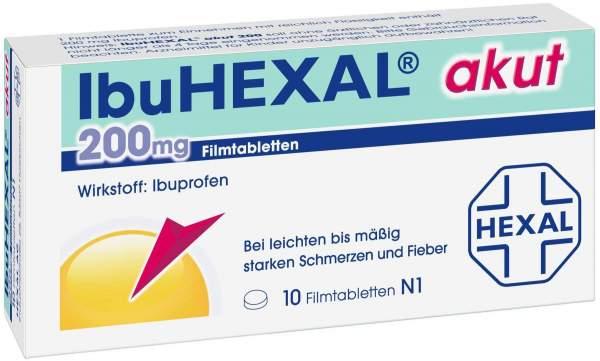 Ibuhexal Akut 200 mg 10 Filmtabletten