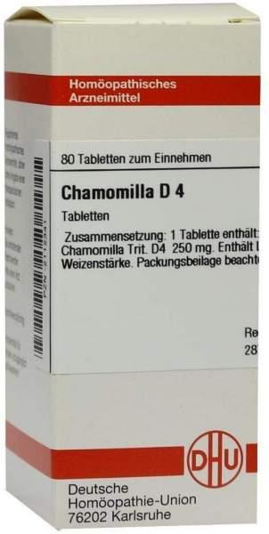 Chamomilla D 4 80 Tabletten