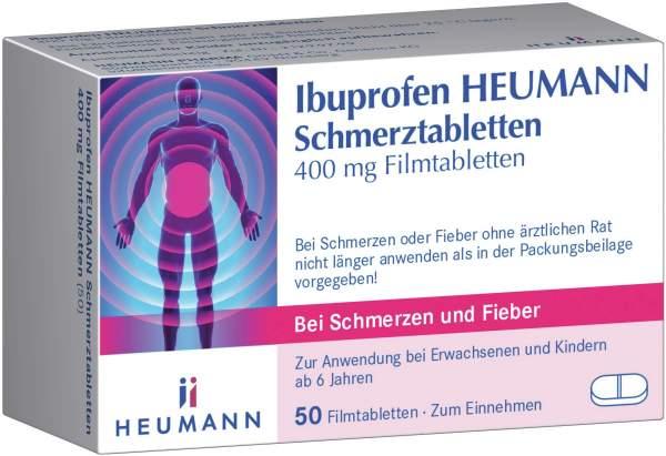 Ibuprofen Heumann Schmerztabletten 400 mg 50 Filmtabletten