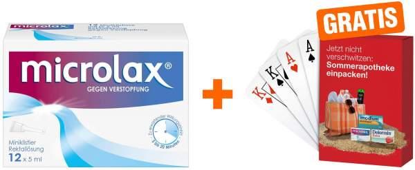 Microlax Klistiere 12 x 5 ml + gratis Kartenspiel