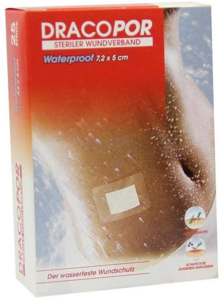 Dracopor Waterproof Wundverband Steril 5 X 7,2 cm 25 Verbände