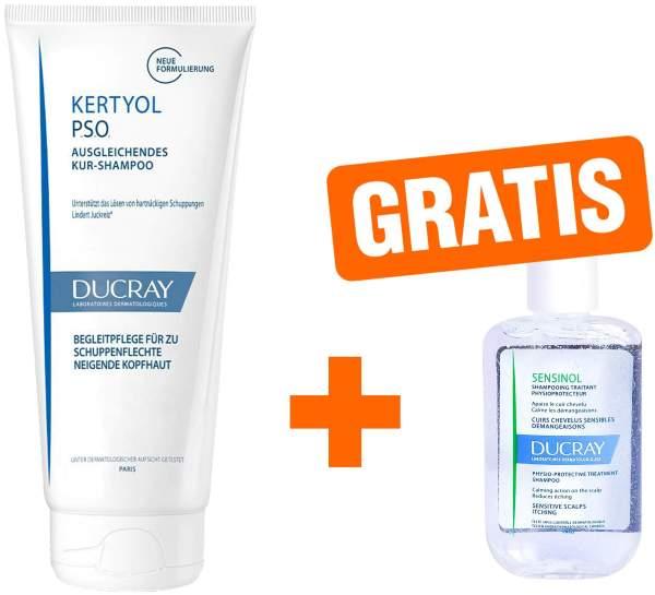 Ducray Kertyol PSO Kur Shampoo 125 ml + gratis Sensinol Shampoo irritierte Kopfhaut 30 ml
