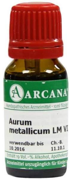 Aurum Metallicum Lm 6 Dilution 10 ml