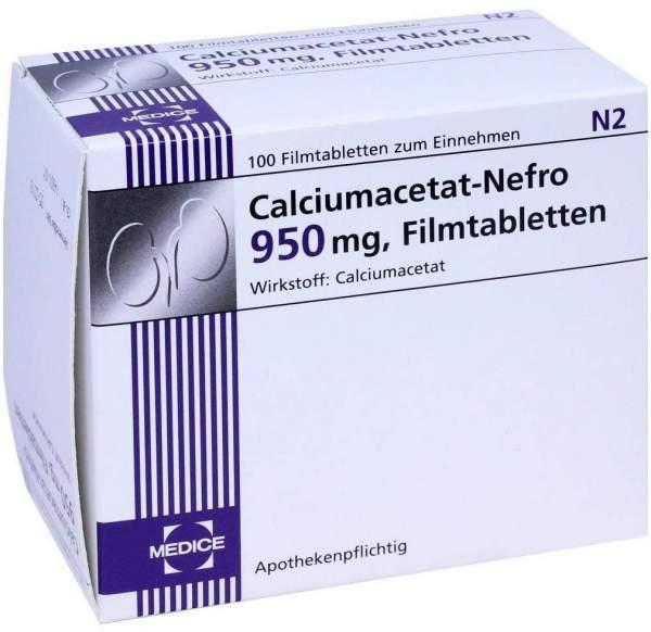 Calciumacetat Nefro 950 mg 100 Filmtabletten