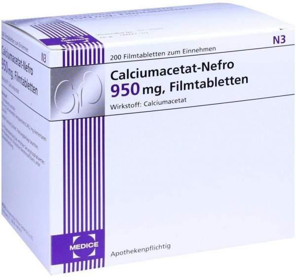 Calciumacetat Nefro 950 mg 200 Filmtabletten