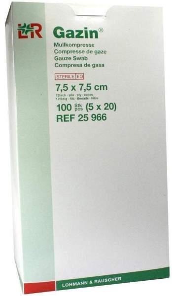 Gazin Mullkompresse 12fach 7,5x7,5cm Steril 5x20 Kompressen