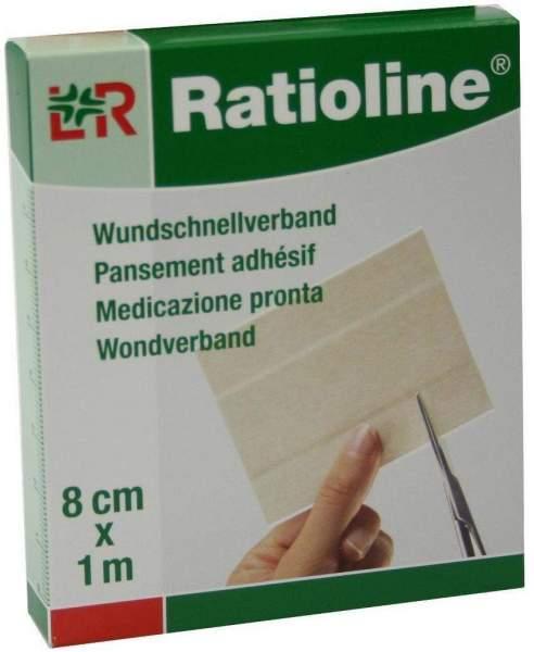 Ratioline Sensitive Wundschnellverband 8 cm X 1 M 1 Pflaster
