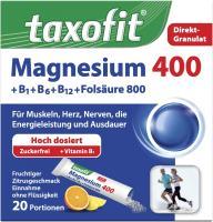 Taxofit Magnesium 400 + B1 + B6 + B12 + Folsäure 800 Granulat 20