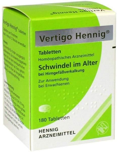 Vertigo Hennig 180 Tabletten