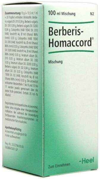 Berberis Homaccord 100 ml Liquidum