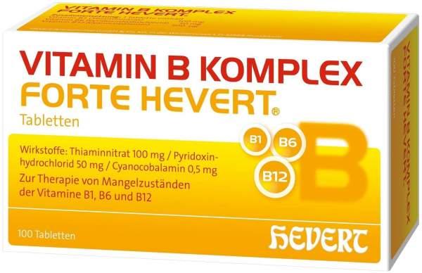 Vitamin B Komplex forte Hevert 100 Tabletten