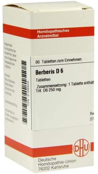 Berberis D6 80 Tabletten