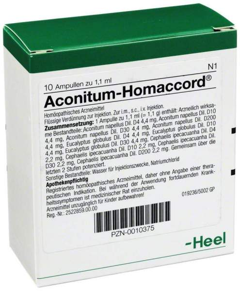 Aconitum Homaccord 10 Ampullen